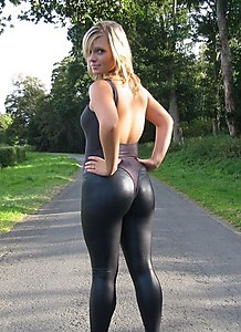 Latex leggings sexy