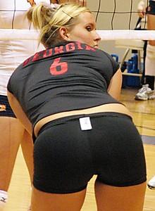 Spandex volley nude ball